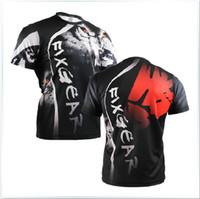 Men basic compression - Famous Brand Fixgear Man Compression Crew Neck Short Sleeve Novelty Bodybuilding T shirt Men Dry Fit Cool Workout Clothes RM1802