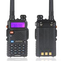 Wholesale BaoFeng UV R Dual Band VHF MHz UHF MHz W CH Walkie Talkie