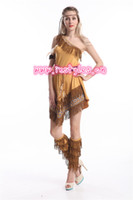 Wholesale Ladies Pocahontas Native American Indian Wild West Fancy Dress Party Costume indian costume