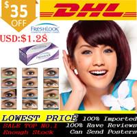 Wholesale DHL Freshlook Contact Lenses Big promotion Hot Sale mm Diameter buy pairs free piece