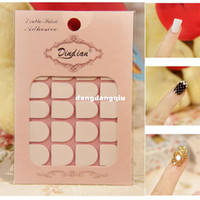 Wholesale Top Quality sheets Clear False Nail Tips Double Side Adhesive Glue Sticky Tape DIY Nail Art Decorations Tool