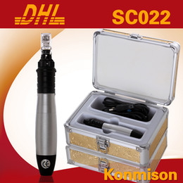 Wholesale derma pen With Extra Needle Cartridge CE aproved Derma Stamp Pen pins Microneedle Adjustable Speeds Aluminum Case
