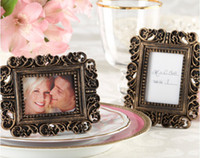 Wholesale Rectangle Gold Antique Place Card Holder Photo Frames Made in China for Wedding