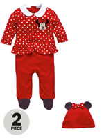 Unisex Spring / Autumn Long 2014 spring&autumn baby girls romper Infant Minnie mouse baby romper with hat Cartoon baby bodysuits