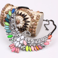 Wholesale 2014 fashion alloy necklace high quality eagle wings crystal necklace amp pendants gorgeous statement jewelry women XL291