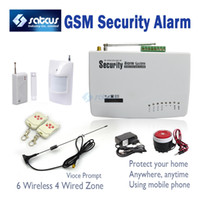 Guangdong China (Mainland) alarm systems cost - Real Voice Prompt Most Cost Effective Wireless Home Intelligent Burglar GSM Alarm System Mhz sg
