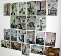 Wholesale Modern wall painting entranceway oil painting background wall fashion personality metal painting