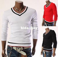 asia knitting - Hot selling Mens slim fit V neck sweater fashion knitwear leisure classic men s pullover knitting shirt Asia S XXXL C517