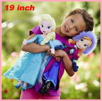 Wholesale Hot sale ice and snow dolls cm inch elsa anna toy doll action figures plush toy kid dolls