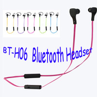 Wholesale New Design Bluetooth Earphone Stereo Headset Hands free Headphone Earbud with Microphone for iPhone iPad Samsung Smartphone Mp3 Mp4 Player