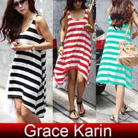 Free Shipping GK Women's Causal Stripe Sleeveless Tank top D...