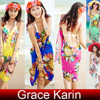Free Shipping GK Women's Fashion Backless Chiffon Bohemia Be...