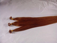 Cheap Fashion pre-bonded human hair keratin indian remy flat tip hair extensions 100g pack #30 free shipping