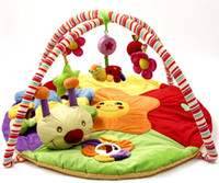 0-2 years old activity toys - Baby Play Mats Crawling floor Rugs Cartoon animal Educational Activity Folding Carpet Baby Game Musical Toys Infant Soft Mat