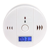 Wholesale CO Carbon Monoxide Alarm poisonous Gas Sensor Warning Detector with LCD Display SEC_709