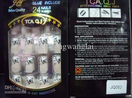 Wholesale Nall Tips new Full Cover False Nails boxs Acrylic Nail Supplies False nails With Glue box Pre Designed Nail Tips