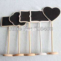 Wholesale x Mini chalkboards on the stick Place holder For Wedding Party Christmas Decorations Table Numbers Place Card