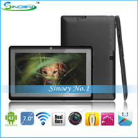Wholesale 5PCS Cheap inch ATM7021 Tablet Q88 Dual Camera Capacitive Tablet PC Android WiFi Skype Play store hdmi Actions Dual Core Q8S MID