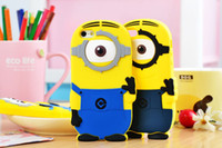 For Apple iPhone Silicone Blue 3D Despicable Me Silicone Cell Phone Cases for iphone 5G 5S 5C 4S 4G Samsung Galaxy S3 S4 S5 N7100 Note3 Free Shipping via DHL EMS Fedex