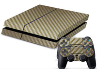 ps4 Protective Case Leather Carbon Fibre Decal Skin Stickers Wrap For PS4 Play Station 4 Console+ Controllers-Silver free china post