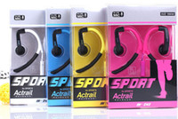 bendable metal wire - Sport Earphone IN Athlete Stylish Power Super Bass Metal Earphones with Bendable Ear Hook for universal iphone Samsung S4 S5