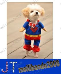 Costumes d'animaux d'expédition gratuite Dog Vêtements Superman cape Taille XS / S / M / L MYY9096
