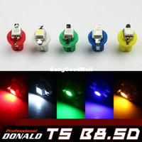 Wholesale 20pcs T5 B8 D Car Gauge SMD LED Dashboard Dash Side Light Bulb Indicator Light C5W Side Interior Lamp Bulb Multi Color