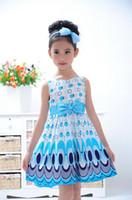 Girls Dresses baby girl popular cotton dress children's summ...