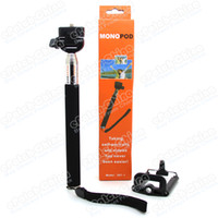 Wholesale 2 in Tripod Mount Adapter Accessories Extendable Telescopic Handheld Monopod for iPhone Samsung HTC Digital Camera