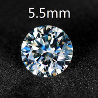 Colorless  0.60 - Brand Certified Charles amp Colvard Round Brilliant Cut White Moissanite Stones mm Carat VVS G H Colorless