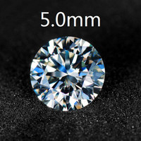 Wholesale Certified Lab Created Loose Moissanite Stones Round Brilliant Cut mm Carat VVS G H Colorless