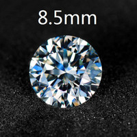 Wholesale Brand Certified Charles amp Colvard Round Brilliant Cut White Moissanite Stones mm Carat VVS G H Colorless