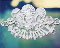 Set cake decorating tools - 2014 new sets Flower Leaf Shapes Sugarcraft Plungers Cutters rolling pin Cake Decorating Tools cookies molds