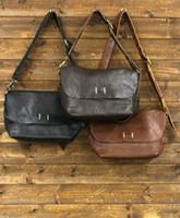 Wholesale Japanese fashion clothing Lok vegetable tanned leather men s retro design in antiquity shoulder messenger bag backpack
