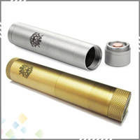 Single Gold Metal King V2 Kit Electronic Cigarette Full Mechanical King Mod II Mod Electronic Cigarette King Mod Clone Brass and Stainless steel 2 colors