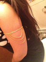 Wholesale Arm chain bracelet silver or gold lead and nickel free women best lover
