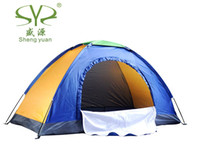 Wholesale Shengyuan Outdoor single monolayer camping tent with a skylight tourist tent leisure tent kg