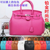 Wholesale AAA quality lady s fashionable handbag with lock size x16x27x9cm different colors