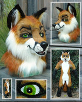 Wholesale Fast custom Fierce fox wolf Mascot Head cartton Mascot costumes party gift Adult size Costume by express