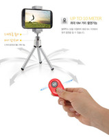 Wholesale wireless Bluetooth Remote photo Camera Control Self timer AB Shutter for iPhone Galaxy S4 S3 Note3 Android Smart phone FREE ship HOT