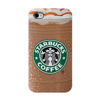 Wholesale Cool New Arrival Brand New Starbucks Ice Coffee Girl Protective Hard Mobile Phone Case Cover For Iphone S S C