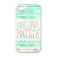 For Apple iPhone Plastic yes Wholesale 2014 Cool Brand New Hakuna Matata Aztec Tribal Snap on Protective Hard Mobile Phone Case Cover For Iphone 4 4S 5 5S 5C 1pcs up