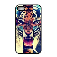For Apple iPhone animal skin for sale - Dhl Hot Sale New Brand Animal Tiger Skin Pattern Hard Plastic Mobile Protective Phone Case Cover For Iphone S S C up