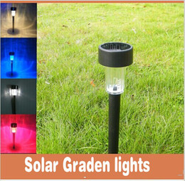 Outdoor Solar Lawn Lamp P65 Waterproof Plastic LED Solar Lights For Garden Landscape Party Decoration Free Shipping