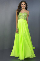 Reference Images Strapless Chiffon 2014 Brightly Colored Prom Dress Slight Sweetheart Neckline Full Beaded Bodice With Shirred Long Chiffon Skirt Party Dresses Prom Dresses