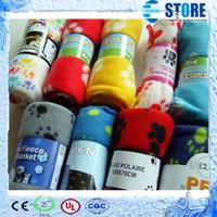 Wholesale New Cute Soft Warm Towel Paw Prints Pet Puppy Dog Cat Fleece Blanket Mat x70cm Pets Supplies wu