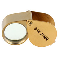 Wholesale Golden Triplet Eye Magnifier Power X mm Jeweler s Loupe EGS_131