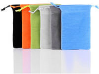 Wholesale For iphone4s iphone5s iphone5c mobile phone bag with string flannel inch cellphone pouch bag