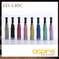 Cheap 20 pcs Aspire CE5S BDC Clearomizer CE5-S BDC Atomizer 1.8ml Bottom Dual Coil Tank rebuildable Atomizer For eGo 510 Thread Battery