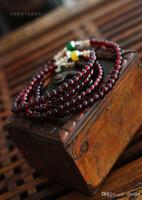 Wholesale New Fashion Charming Bohemian Handmade style Multi layer polymer clay Flower garnet Beads Bracelet jewelry DH6087